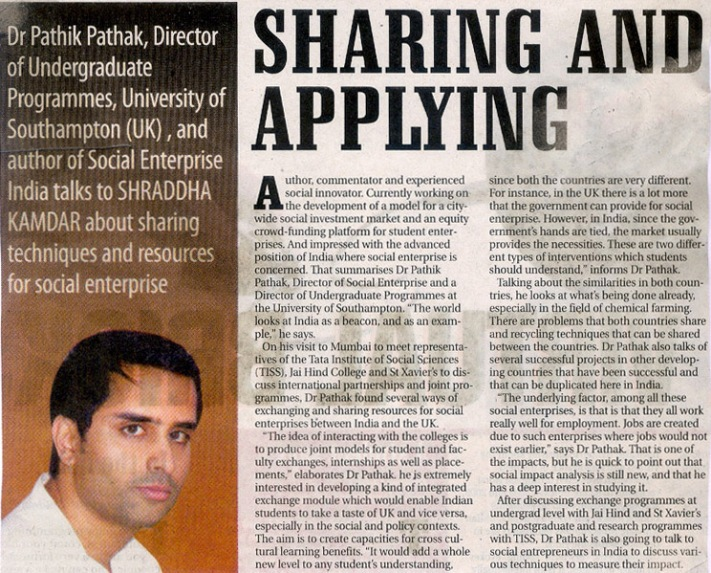 Our our exchange partnerships with Mumbai universities